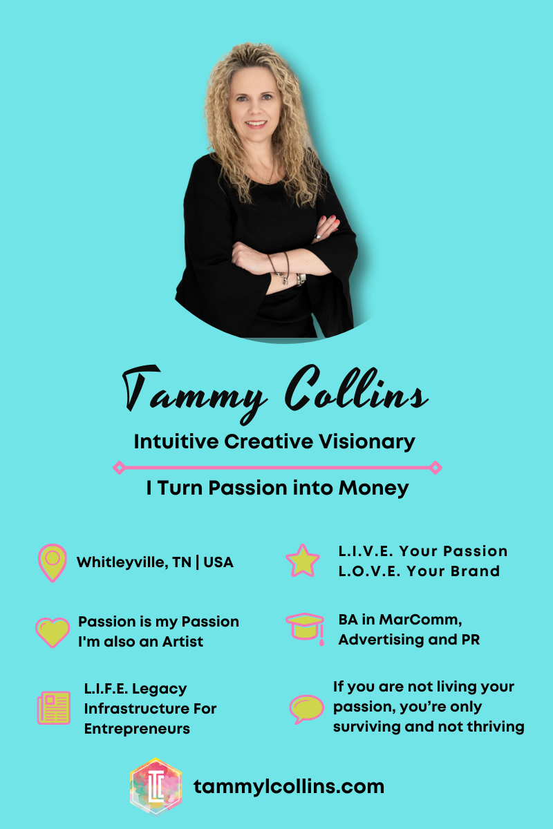 Find out how Tammy L Collins turned her own passion into profits when she created Futurology Farms and how she can help YOU turn YOUR passion into profits.